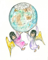 Happy Earth Day from all of us at the Gallery in the Sun! (DeGrazia Gallery in the Sun) Tags: arizona ted architecture watercolor artist gallery desert artgallery tucson az angels adobe earthday degrazia catalinas ettore nationalhistoricdistrict galleryinthesun