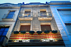 Feli diada de Sant Jordi Catalunya (Fnikos) Tags: building window outdoor catalonia catalunya catalua santjordi