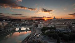 Vatican (fnatic2013) Tags: sunset vatican stpeters rome holidays castel santangelo
