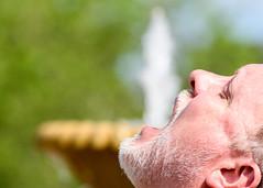 Spew! (Maggggie) Tags: man wet water fountain spew forcedperspective week16 52in2016