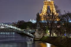 Paris, Tour Eiffel (Didier Ensarguex) Tags: paris canon latoureiffel 75 70200 lesacrcoeur rflexionreflet didierensarguex pontdelarouelle