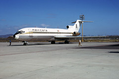 MX Mexicna B727-200 XA-TAC Mazatlan May, 1978 (Yukon Yeti) Tags: mexicana airplane airline boeing 727 727200