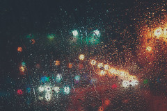 The Way to You  (Still.Loony) Tags: road city rain night lights drops bokeh canoneos400d