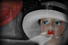 Milliner (Dave R Benjamin) Tags: face artsy unexpected