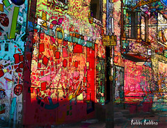 Another View (brillianthues) Tags: city urban philadelphia collage photoshop photography colorful badlands photmanuplation