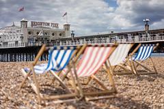 Life's a Beach (ShrubMonkey (Julian Heritage)) Tags: sea beach coast pier seaside brighton shingle coastal deckchairs palacepier a7r