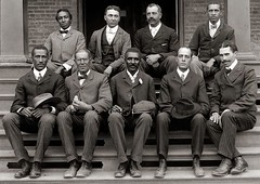 George Washington Carver (front row, center) posing with fellow faculty of Tuskegee Institute, 1902 [50593583] #HistoryPorn #history #retro http://ift.tt/1X15fgZ (Histolines) Tags: history george washington with posing center front row retro institute timeline carver fellow faculty 1902 tuskegee vinatage historyporn histolines 50593583 httpifttt1x15fgz