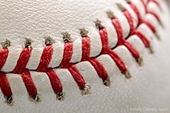 Stitching (Holly Calinsky Jauch) Tags: sports closeup america baseball american stitching tradition marcro pastime rawlings