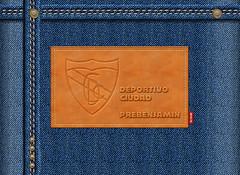Deportivo Ciudad Jeans Label (pedritop (www.ppedreira.com)) Tags: corua jeans futbol vaquero cuero etiqueta 2016 prebenjamin etiquetaroja deportivociudad jeanslabel