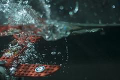 Plunge: Alternate Shot (Kyle Hardisty) Tags: lighting red macro field speed plane canon kyle photography high lego fig crash flash mini custom depth baron overunder minifigure 2016 hardisty