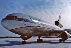 N1812U United DC-10-10 in KCLE (GeorgeM757) Tags: airplane airport aircraft aviation united fedex widebody mcdonnelldouglas dc1010 alltypesoftransport georgem757 n1812u n353fe