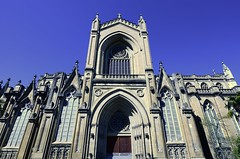 Cathedral front (padraicsmeehan) Tags: espaa spain catholic cathedral catholicchurch basque euskadi romancatholic vitoria gasteiz vitoriagasteiz paysbasque pasvasco reinodeespaa kingdomofspain catlicoromano catedraldemarainmaculadadevitoria mariasortzezgarbiarenkatedrala