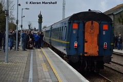 1541 departs Ballybrophy, 9/4/16 (hurricanemk1c) Tags: irish train gm rail railway trains railways irishrail generalmotors 1541 2016 cravens emd 083 071 iarnrd ireann rpsi irrs iarnrdireann ballybrophy railwaypreservationsocietyofireland twodaytour irishrailwayrecordsociety 40yearrailtour 70yeartour 1020connollylimerick