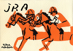 JRA (nakagawatakao) Tags: horse illustration painting charactor    jra   takaonakagawa