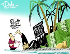 0416 taxes for us and them cartoon (DSL art and photos) Tags: money offshore laundering taxes finance leaks editorialcartoon donlee panamapapers