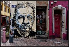 Mahn Kloix (Gramgroum) Tags: street art collage graffiti julien marseille sticker glue it keep cours mahn alerte coursju wikileaks lanceur assange kloix keepitglue2