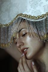 Je Suis la Lumire (ElisaPaciPhotography) Tags: light portrait woman art beautiful beauty face fashion canon model eyes hands artist emotion modeling fineart concept conceptual elegance