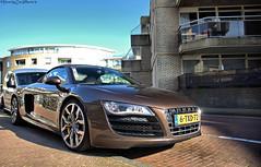 Audi R8 spyder (MostlyCarPhoto's) Tags: brown nikon sunny spyder german expensive audi luxury supercar supercars noordwijk r8 carphotography audir8 carspot d5200 brownaudir8 parallelboulevard