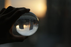 The World Has Taught us Otherwise (adamvillani) Tags: city sunset chicago glass ball holding acrylic hand contact juggling hold