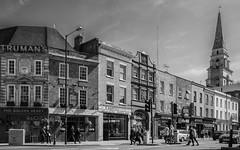 Commercial Street View (BW)  (Fujifilm X70 Compact) (markdbaynham) Tags: city uk urban bw london monochrome prime fuji 28mm capital gb fujifilm metropolis fujinon f28 spitalfields compact x70 londoner londonist 16mp transx fujiuk