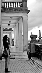 (maisacarv) Tags: city bw building girl beautiful weather hair nice pretty view curly