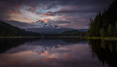 Clearing Storm Over Mt Hood (WJMcIntosh) Tags: sunset oregon bravo mthood trilliumlake