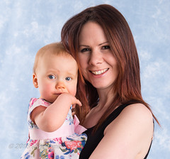 Kim & Lucy (trethurffe2001) Tags: portrait england people baby girl studio children warrington child kim unitedkingdom father mother bethany indoors groupshot backround