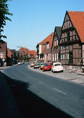 Bad  Segeberg, Germany   circa  1976    (scanned 35mm slide)     00500_s_13akakalg30500 (waitingfortrain) Tags: may karl winnetou northerngermany 1970svwcars badsegeberrg germancars1970s