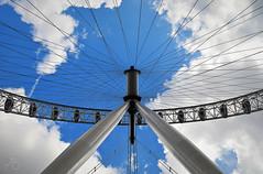 London Eye (Marco.db.) Tags: england sky cloud london clouds nikon view under londoneye londra skyblue d5100 nikond5100