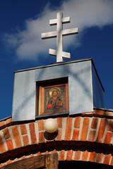 Klasztor staroobrzdowcw w Wojnowie - brama - detal (jacekbia) Tags: church canon outdoor mazury religion poland polska monastery koci religia klasztor wojnowo starowiercy filiponi