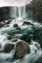 xarrfoss (Kirk Lougheed) Tags: water river landscape waterfall iceland nationalpark outdoor thingvellir ingvellir icelandic xar xarrfoss thingvellirnationalpark oxararfoss xarriver