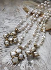 N-4209, N-4210, N-4211 (Kotomi_) Tags: vintage necklace costume handmade style jewelry medieval jewellery collection polymerclay historical period byzantine springsummer naturalstone semiprecious 2016  kotomi    kotomiyamamura kotomijewellery