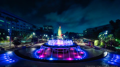 Grand Park (mhoffman1) Tags: california park ca longexposure fountain night evening la us losangeles unitedstates cityhall palmtrees waterfountain hdr losangels grandpark sonyalpha a7r arthurjwillmemorialfountain aurorahdr