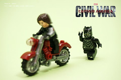 Captain America: Civil War (noleter) Tags: black america war lego spiderman ironman civil captain superheroes panther mcu antman