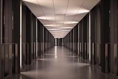 Take a walk with me (jackachanman) Tags: night triangles path gray symmetry hallways