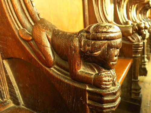 Choir stall armrest