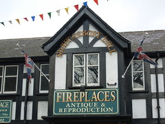 Fire Place 2 (KiranParmar) Tags: blackandwhite buildings fire place timber leicester timbered