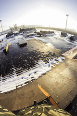 Skatepark Osijek, Croatia (Marin Lonar) Tags: winter snow bmx extreme osijek croatia sunny fisheye skatepark skate 2016 pannonian pannonianchallenge