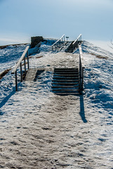 Sunny n cold path (LiveToday84) Tags: trip travel winter sea ice water island boat frozen helsinki north suomenlinna d80
