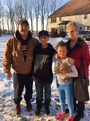 Liesel's girl with her new family on pick day!