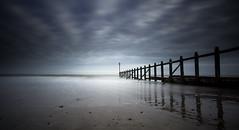 Dawlish Warren Groyne (grahamhutton) Tags: wood sea water coast wooden seawall groyne dawlish dawlishwarren dawlishseawall