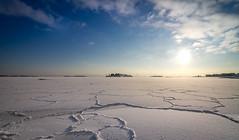 On the sea (mika.laitinen) Tags: winter sun snow seascape ice nature suomi finland island helsinki horizon shore isle vuosaari uusimaa uutela canon7d