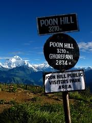 In the Annapurnas (Py All) Tags: nepal mountain snow nature plaque montagne trekking trek outside asia outdoor asie neige himalaya pokhara extrieur annapurna panneau randonne texte poonhill ghorepani criteau