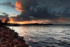 Afterwork View (frata60) Tags: sky lake holland water netherlands clouds skyscape landscape boat nikon meer nederland wolken tokina d200 groningen lucht paterswoldsemeer landschap luchten harengn