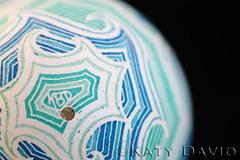"""High Seas"" (Katy David Art) Tags: ocean blue sea white green water modern aqua folkart waves fineart egg goose line eggshell batik choppy pysanka pysanky"