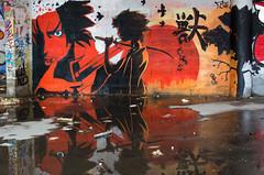 Sabre soleil levant.jpg (BoCat31) Tags: streetart tag reflet sabre soleil