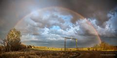 Arco Iris (Patrizio Lubrani) Tags: ranch arcoiris nuvole indian reserve manitoba cielo saskatchewan bison prairies acqua arcobaleno cristalli bisonti praterie rossburn nikonclubit anpobisonranch