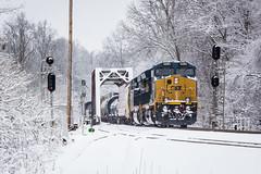 Q539 at Saxton (Peyton Gupton) Tags: snow tn tennessee kentucky sub jonas kd morley csx holton jellico csxt saxton
