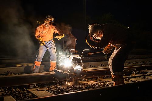 03.09.2015, thermite welding 02, Zábřeh na Moravě
