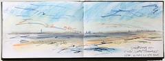 Skeffling, December, upriver (johnhumber48) Tags: landscape drawing sketchbook pastelpencils sunkisland sketchbookpages